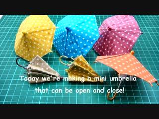 DIY Miniature Doll Mini Umbrella - Can Open  Close