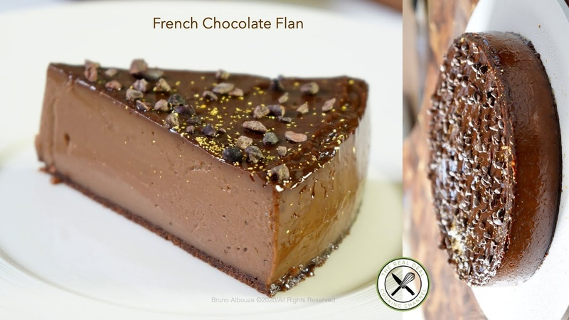 French Chocolate Flan🇺🇸🇫🇷 Bruno Albouze THE REAL DEAL