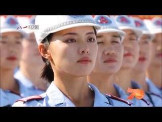 КИТАЙСКИЕ ДЕВУШКИ НА ПАРАДЕ ПОД ПЕСНЮ КАТЮША China Female Military Parade