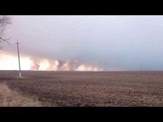 Балаклея  Взрыв боеприпасов - Пожар - В Балаклее горит склад боеприпасов