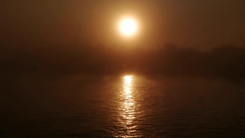 Туманное утро Река Самара