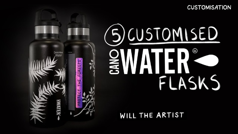 CanO Water Flask Customisation ⚡️Giveaway Will the Artist