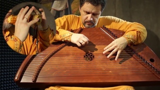 Игра на гуслях и флейтах одновременно в режиме импровизации. 29-струнные гусли и славянские флейты.