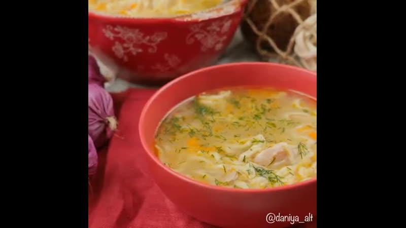 Куриный суп с домашней лапшой 128523 ингредиенты указаны в описании видео