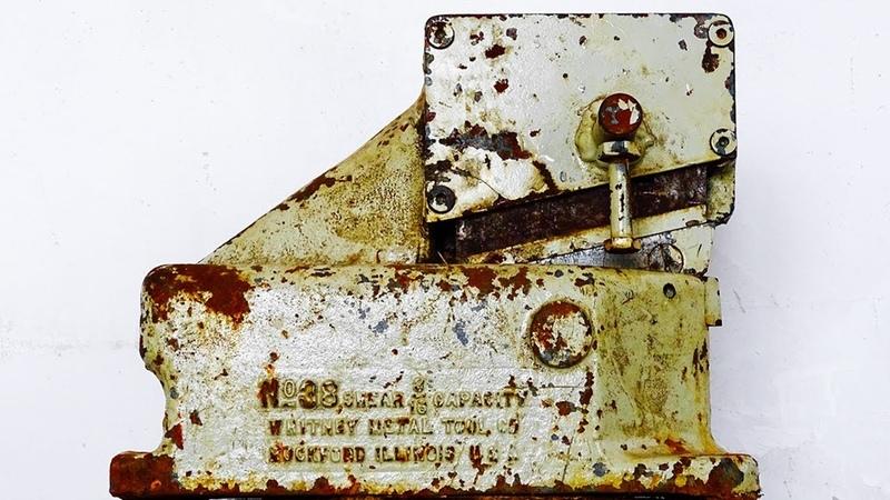 Old Rusty Bench Metal Shear Restoration Whitney Tool
