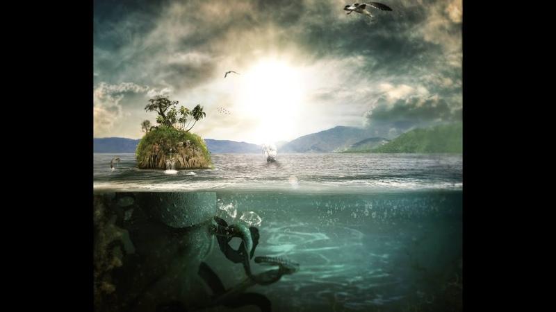 Speed Art Photoshop Underwater Giant Pacific octopus Surreal