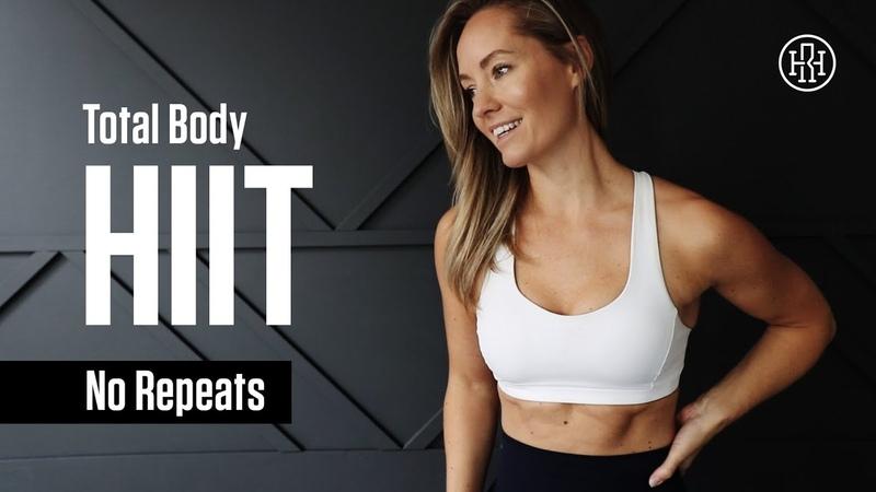 Heather Robertson 1 Hour No Repeat HIIT Workout Аэробно силовая тренировка для похудения и тонуса мышц без повторов