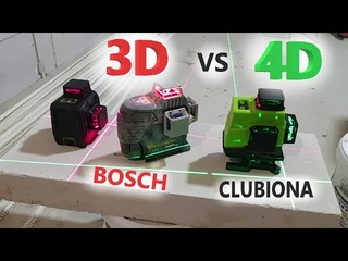 4D Зеленый Лазерный уровень с AliExpress. ОБЗОР/СРАВНЕНИЕ - Clubiona IE16 против Bosch GLL 3-80