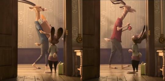 """Гомосексуальная пара антилоп из мультфильма «Зверополис». Из титров становится известным, что у них двойная фамилия — Oryx-Antlerson, что свидетельствует о """"брачном союзе"""" между ними, если можно так выразиться."""
