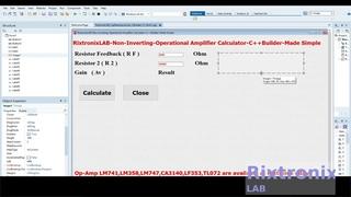 Creating Non Inverting Op Amp Calculator Easy C++Builder  Ep5