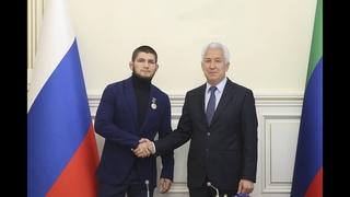 Награждение Хабиба Нурмагомедова в Дагестане