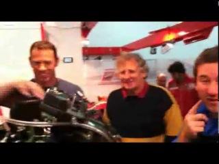 Valentino Rossi meets the Ducati Desmosedici GP11 1