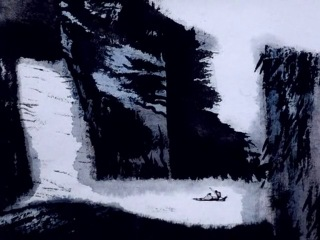 Впечатления от гор и вод, (Shan shui qing), 1988, Те Вей, китайский мультфильм в стиле гохуа