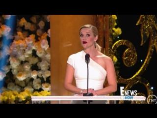 Oops! Naomi Watts Trips on Emma Stone's Dress