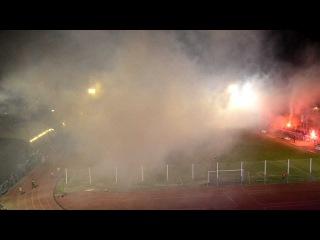 5-ый футбольный дивизион Румынии. Потрясающее пиро - шоу / ASU Politehnica - AS Nadrag 4-1