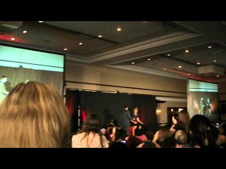 Steven Mcqueen carrying Nathaniel Buzolic on stage. Insurgence 4.