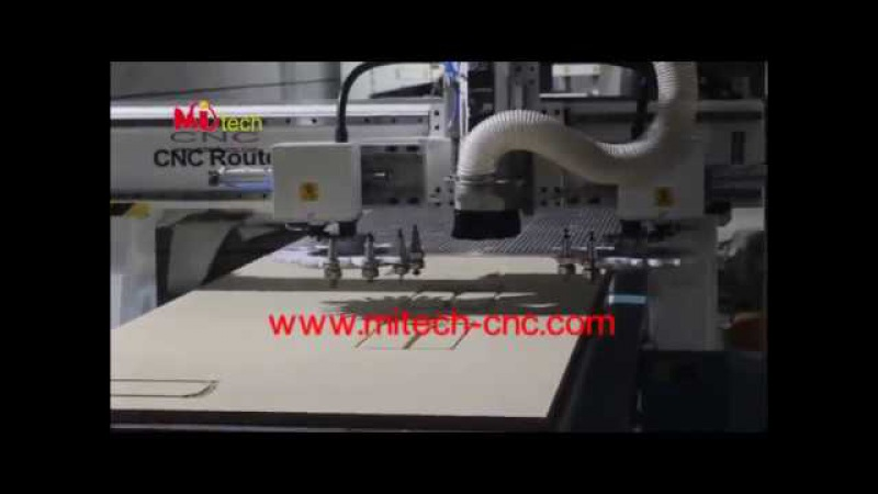 Mitech 1325 atc cnc router 24 tools auto tool changer double working table