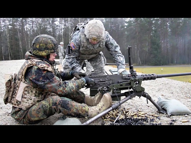 U.S. German Soldiers Working Together - Weapons Familiarization Range
