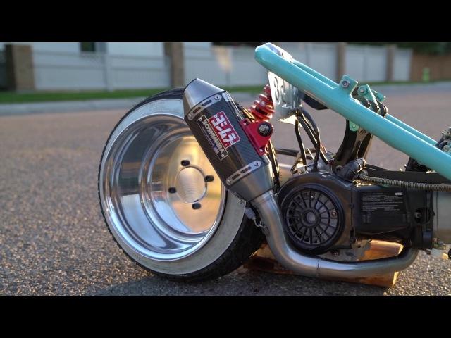 Honda Ruckus GY6 Teaser! STRETCHED SLAMMED