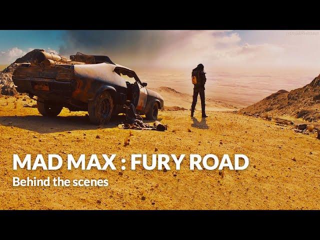 Behind the scenes Max and Furiosa Mad Max Fury Road