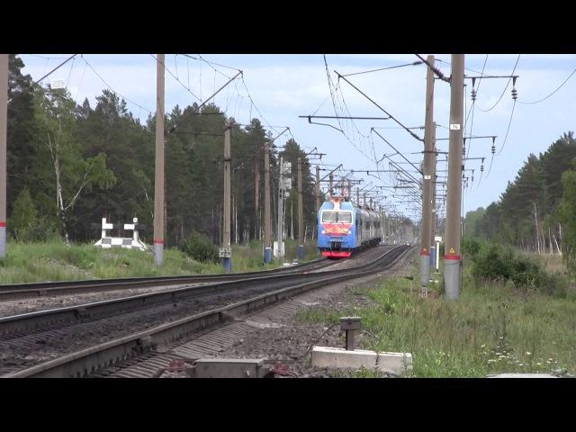 Электровоз ЭП1П 074 С пассажирским поездом Улан Удэ Северобайкальск Вос Сиб жд Б