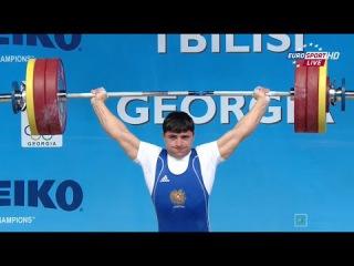 2015 European Weightlifting Championships 77 kg Men \ Чемпионат Европы
