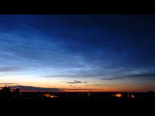 Noctilucent clouds   Night June 11, 2015