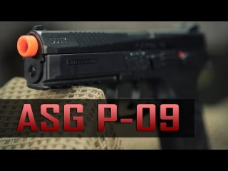 Heavy Kick Airsoft Pistol - ASG CZ P-09 - CO2 and Green Gas - Airsoft GI