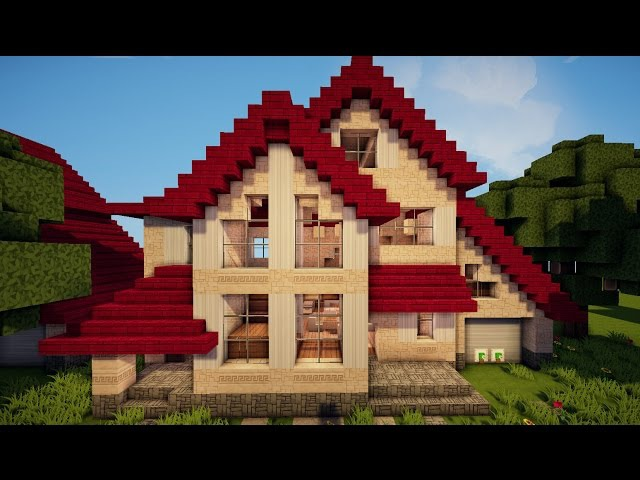 Как сделать в майнкрафте красивый дом 2 этажа