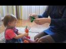 Корзина с вязаными фруктами и овощами Moomy Mommy