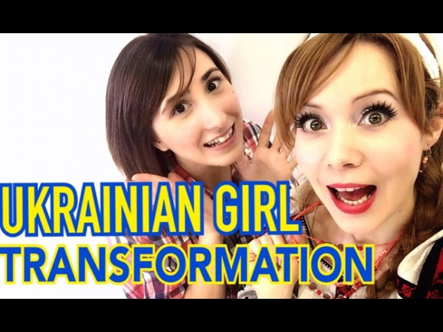 Ukrainian Girl Transformation Вишива́нка with IizumiChyan Trying Ukraine fashion for the first time
