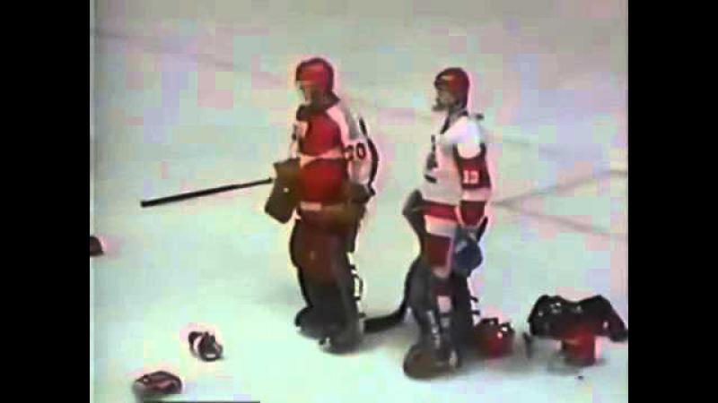 Легендарная драка СССР — Канада на МЧМ-1987 в Пьештянах Canada Vs Soviet Union ice hockey brawl