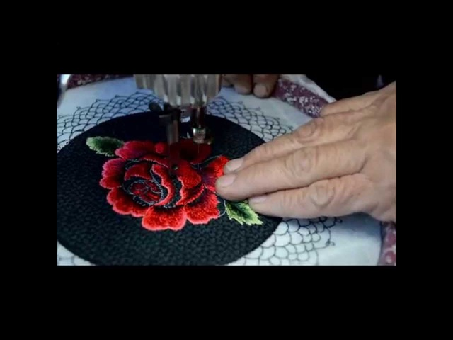 Creating A Rose With Free Motion Embroidery Using A Vintage Treadle Sewing Machine
