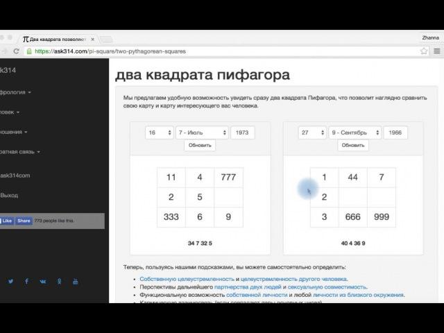 Квадрат Пифагора и О чем кричит сексуальная диагональ - ЦИФРОЛОГИЯ - ask314.com
