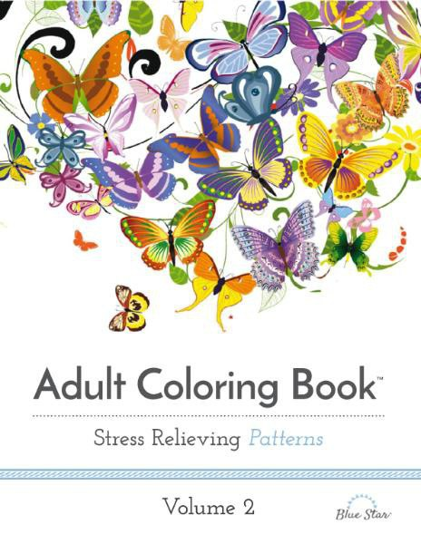 Adult Coloring Book - Stress Relieving Patterns, Volume 2
