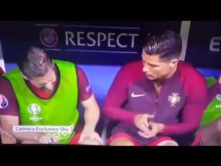 France vs portugal 0-1 christiano ronaldo vs adrien silva,funny moment