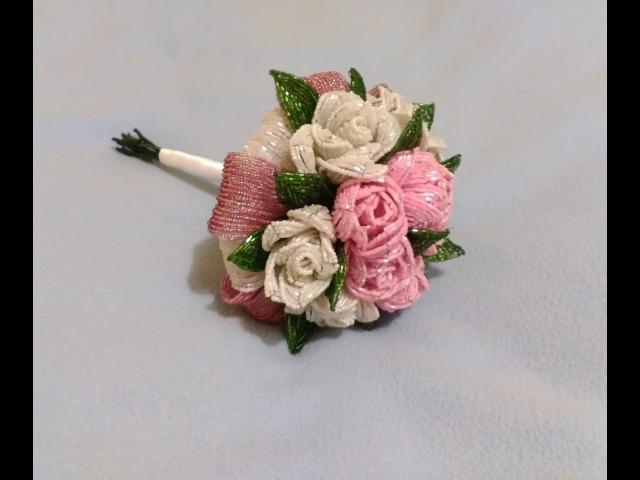 Свадебный букет из бисера Часть 4 Wedding bouquet of 4