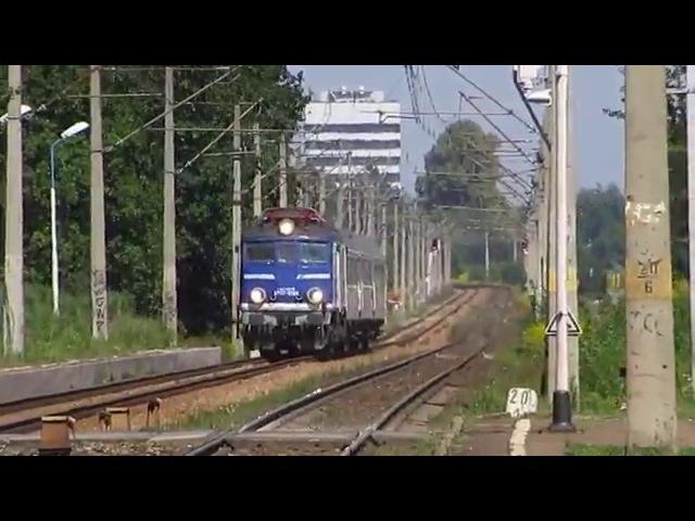 Pociągi na przystanku Trains in Tychy Żwaków 19 08 2015