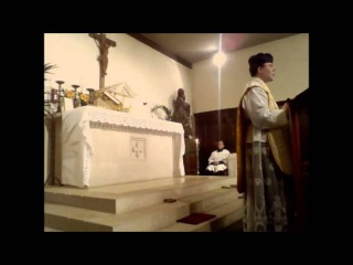 Feast of the Holy Family, 12 january 2014, Sint Amanduskapel Gent (FSSPX), latin mass