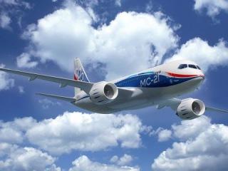 """Презентация российского самолета """"МС 21""""."""