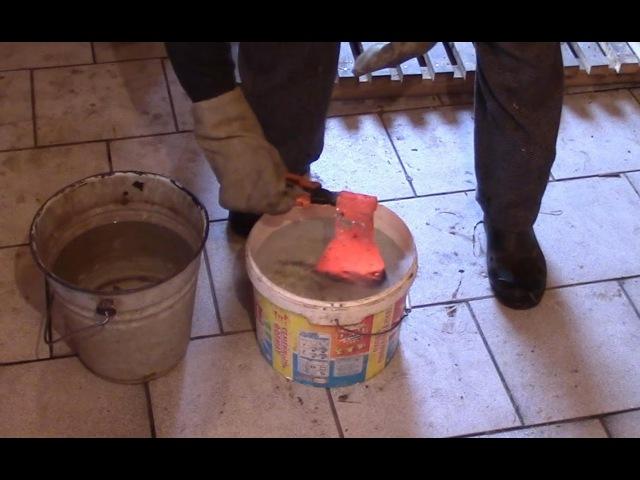 Закалка топора в домашних условиях