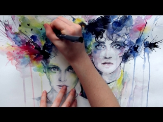 Agnes cecile / skies on fire - speed painting the green children