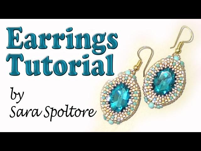 BeadsFriends earring tutorial Oval crystal bezel DIY earrings