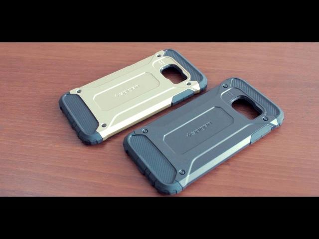 Защитный чехол Spigen для Samung Galaxy S7 / G930 (резина пластик)