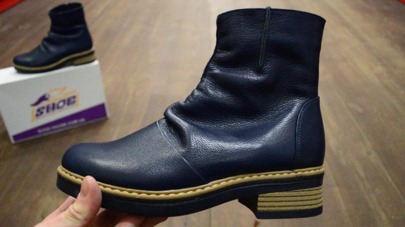 Женские кожаные зимние ботинки ARI ANDANO на меху ( шерсть )
