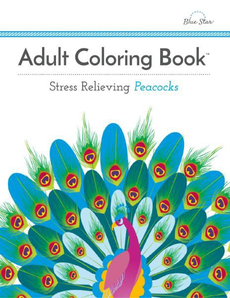 Book cover Adult Coloring Book - Stress Relieving