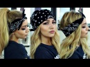 PIA MIA KYLIE JENNER INSPIRED BANDANA HAIRSTYLES HAIR TUTORIAL