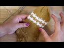 Как связать не стандартную полоску на носке Очень простой узор спицами