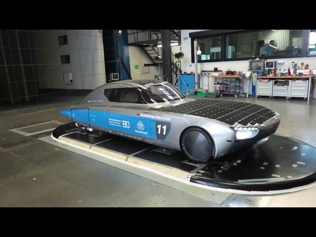 Thyssenkrupp blue.cruiser im Windkanal bei Daimler
