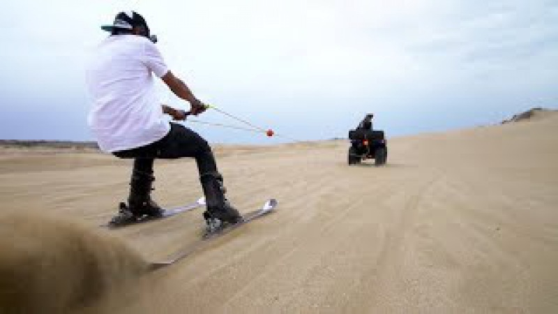 Défi SKI TRACTÉ par un QUAD sur les dunes d'Essaouira feat Ultimate Family